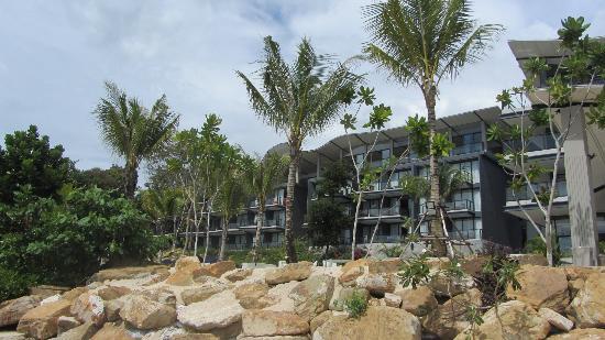 Beyond Resort Krabi: View of main building from beach