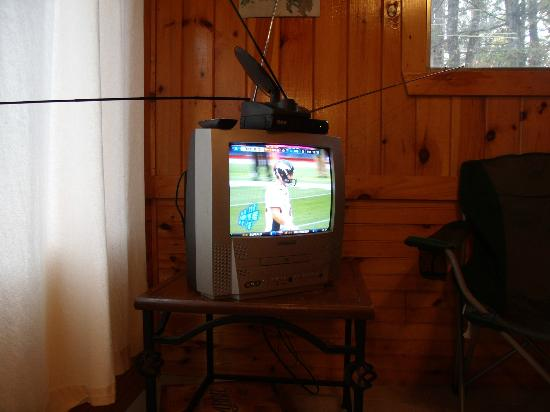 Silverton Sporting Ranch: The tv we were given to watch.