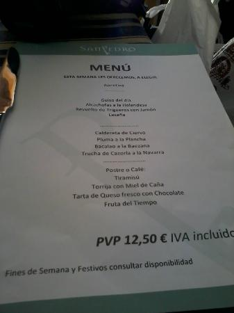 Taperia-Restaurante San Pedro: Anzuelo Menú