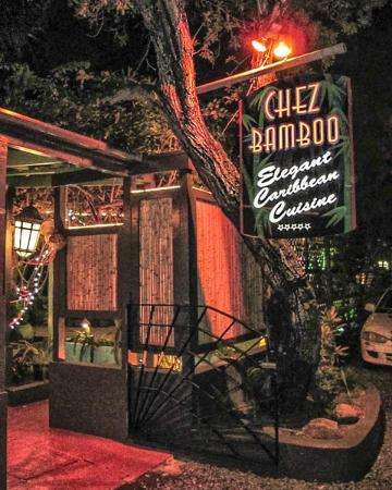 Chez Bamboo: Outdoor Sign