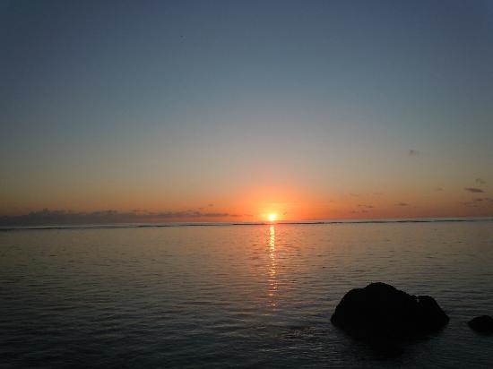La Desirade: Levé du soleil depuis notre terrasse