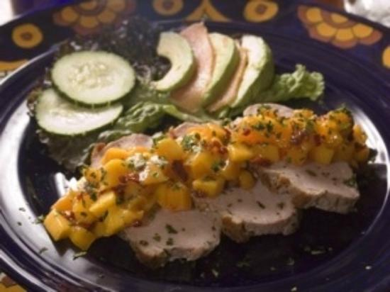 El Buen Cafe: Pork Loin with Mango-Chipotle Salsa