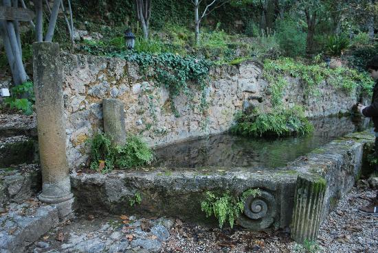 Molino La Farraga: Fuente en el jardín