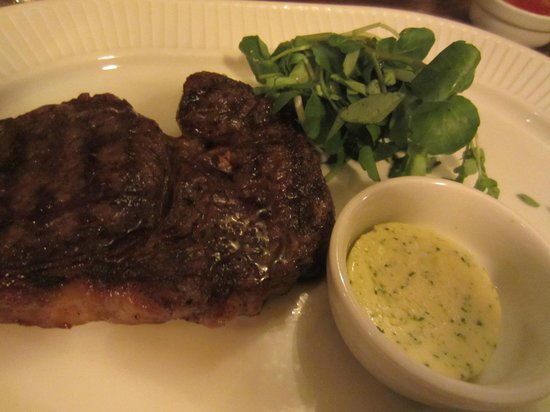 Cote Brasserie - Cambridge :                   Steak with garlic butter