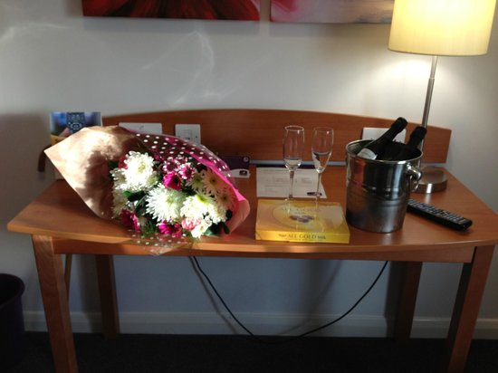Premier Inn Liverpool John Lennon Airport Hotel: my gifts to my husband that premier inn got on my request