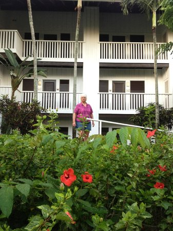 Kiahuna Plantation Resort: room 418, 3rd floor right corner.