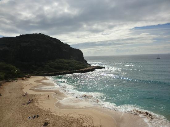 Makaha Beach Cabanas Rough Waves In December