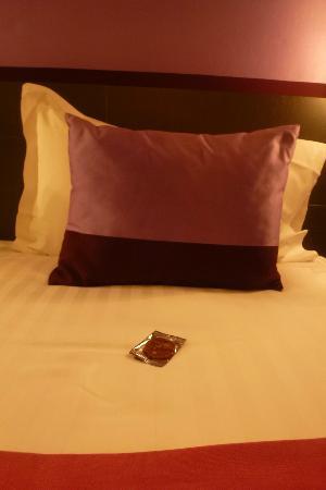 Le Marceau Bastille Hotel: le petit chocolat de bienvenue