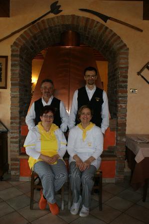 Pomponesco, Italien: Lo staff.