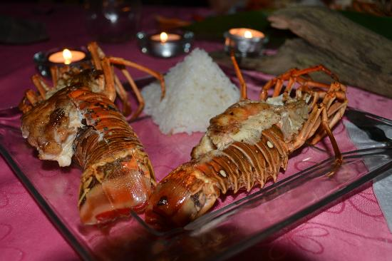 Urraca Private Island: Evening meal catched 3 hours earlier!