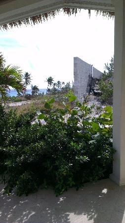 Sky Beach Club: Cinder wall viewable from the bungalow