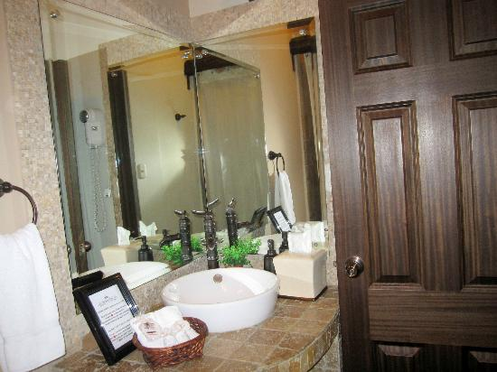 Hotel la Catedral: Bathroom-counter area