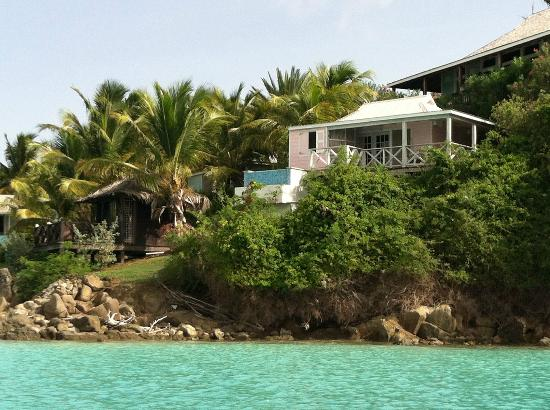 Cocobay Resort: Our Cabin from the sea ( while kayaking)