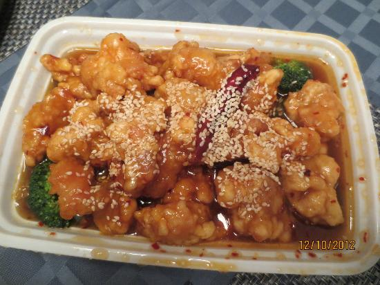 Sesame chicken bilde av luen hop chinese restaurant i for 100 degree chinese cuisine
