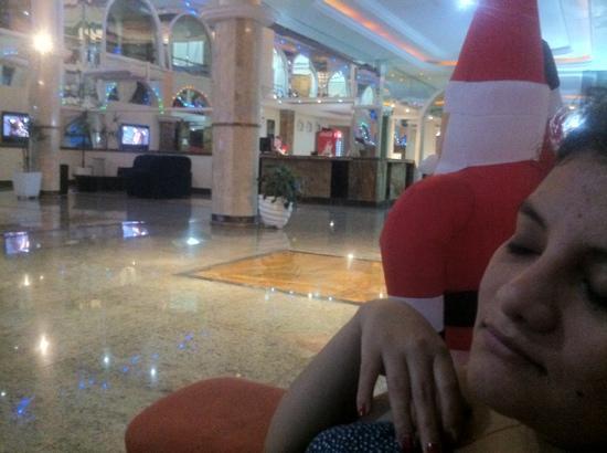 Iguassu Holiday Hotel: Gisse en el mueble rojo del lobbie