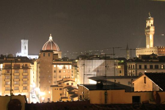 Pitti Palace al Ponte Vecchio : The awesome view from the outside dining area