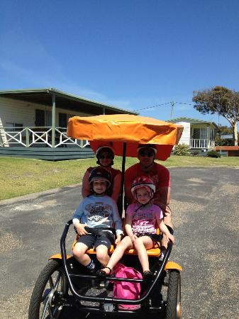 NRMA  Merimbula Beach Holiday Park: Fun but hard work on the bike