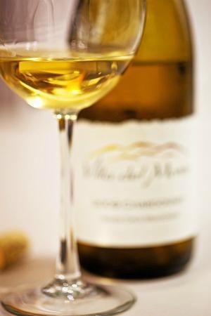 Villa del Monte Winery: A glass of Villa del Monte Chardonnay Santa Cruz Mountains