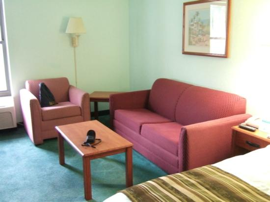 Days Inn & Suites Fort Myers near JetBlue Park: Pull-out sofa.