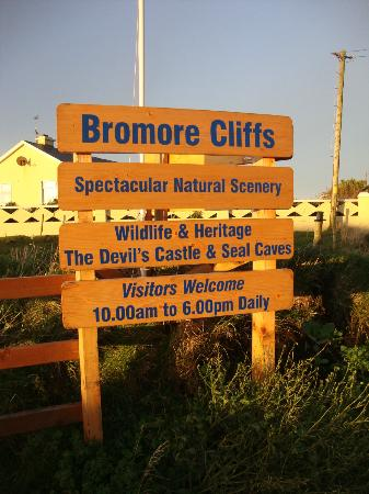 Bromore Cliffs: You can't miss it!