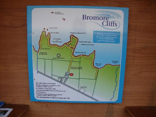 Bromore Cliffs: Map of Bromore Cliff Walk