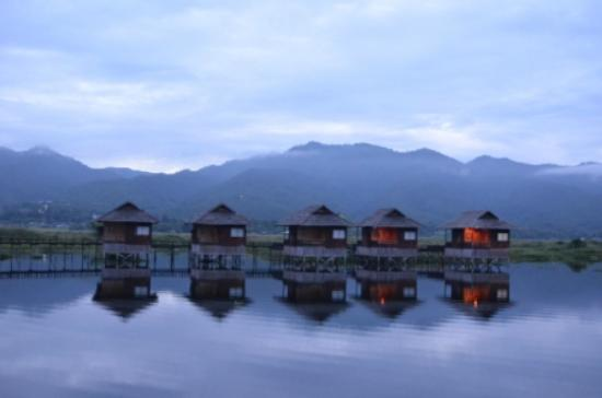 Golden Island Cottages - Nampan: View from my room. (Evening/sunset time)