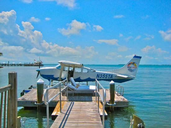 Little Palm Island Resort & Spa, A Noble House Resort: Seaplane docked at Little Palm Island