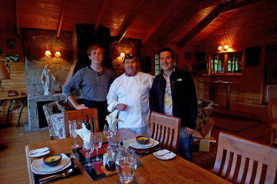 Mallin Colorado Ecolodge: Chef Miguel, our Slovakian staff and myself