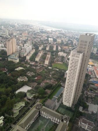 Banyan Tree Bangkok: view from Baiyun restaurant 59th floor
