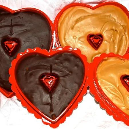 The Original Fudge Kitchen: Fudge hearts for V-day!