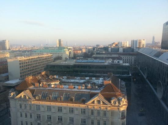 โรงแรม ฮิลตัน เวียนนา: Aussicht vom Zimmer