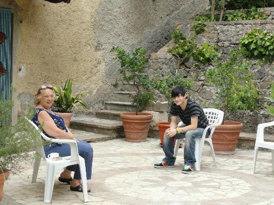La Rosa Residence: Our son and the mama of the house
