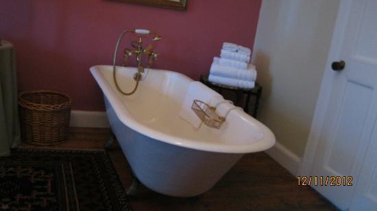 Medindi Manor : Une baignoire ancienne