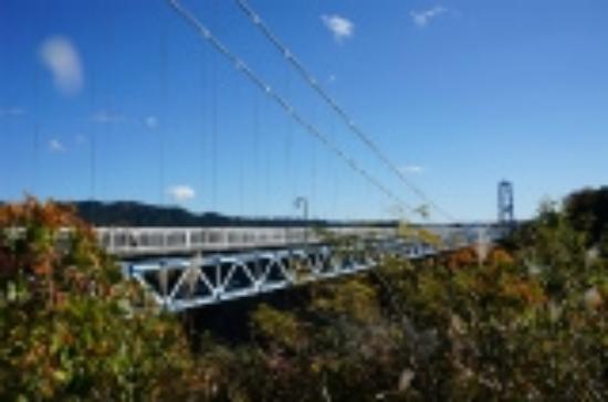 Hitachiota, Japon : 渓谷に掛かる大吊橋