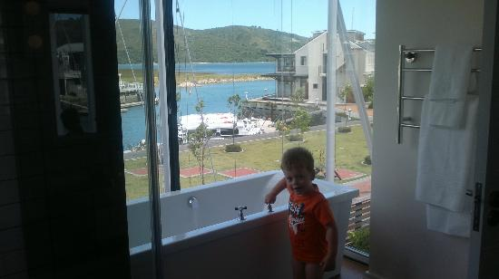 Turbine Hotel & Spa: View from the bathroom
