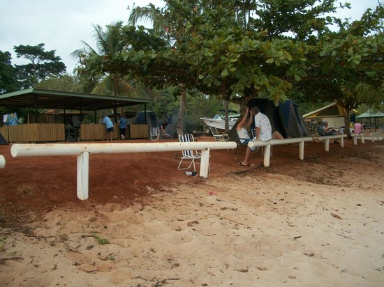 Seisia Holiday Park:                                     Red meets White Sand