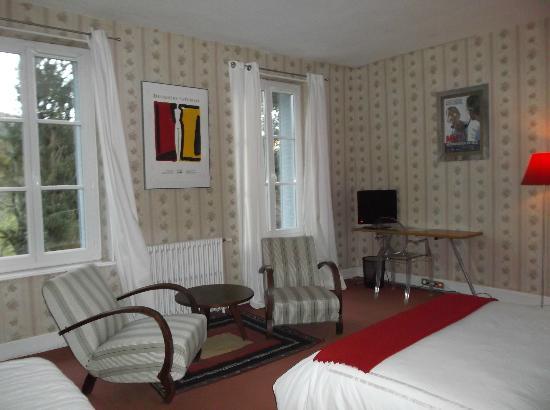 Chambon-sur-Voueize, Γαλλία: chambre double vue parc