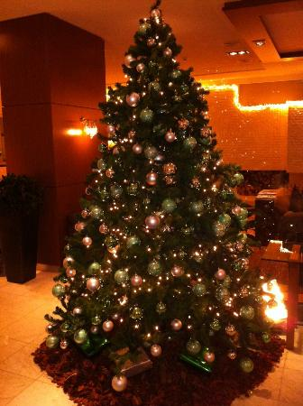 Bilderberg Garden Hotel: Christmas 2012: tree in the reception area.
