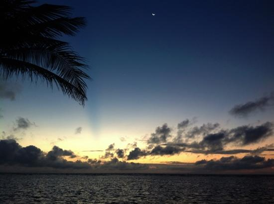 Barefoot Cay: sunrise from our Villa
