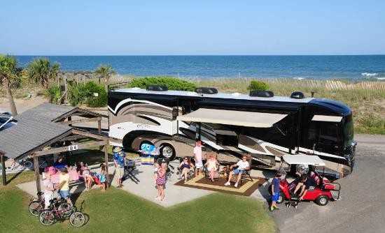 Pirateland Oceanfront Campground: Oceanfront Campsite