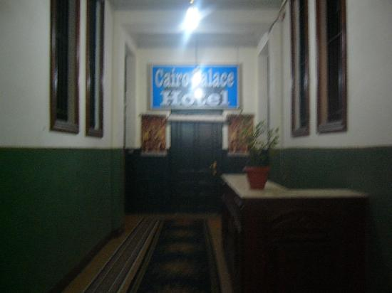 Cairo Palace: ビルの階段をあがるとここがホテルの入り口です。