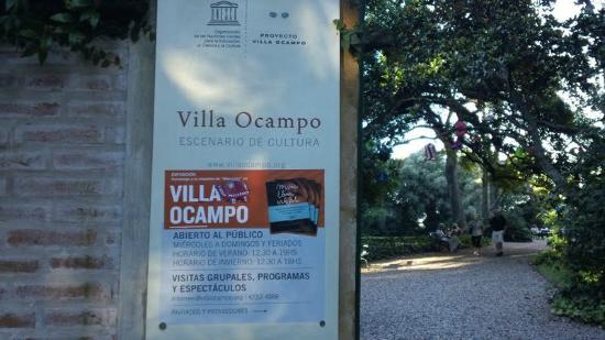 Entrada de Villa Ocampo