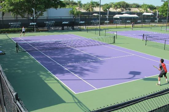 IMG Academy: A view of one of the tennis courts