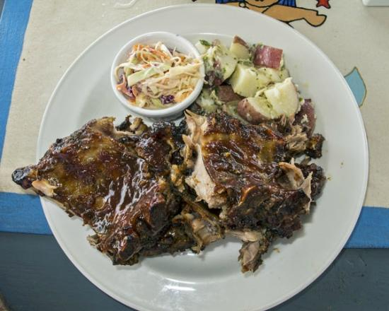 Fat Virgin's Cafe: Ribs Barbecued, Mario's Favorite