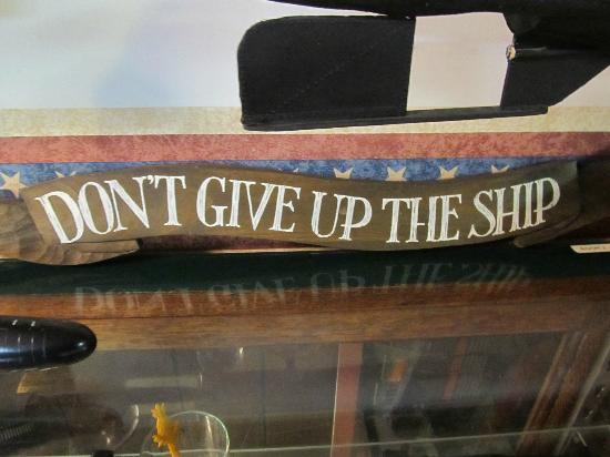 St. Marys Submarine Museum: Famous NAVY saying