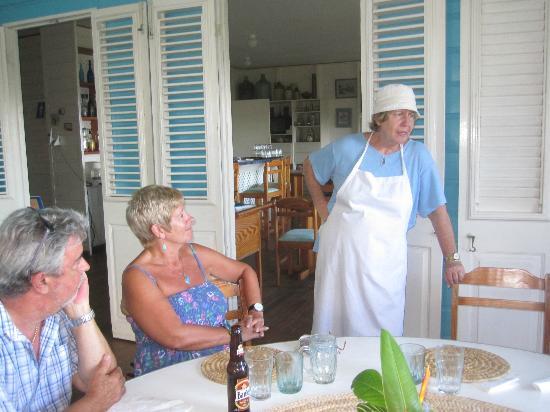 The Cove Restaurant : Our genial hostess