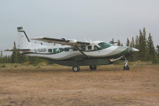 Kaska Goose Lodge: Our ride in and out of the lodge
