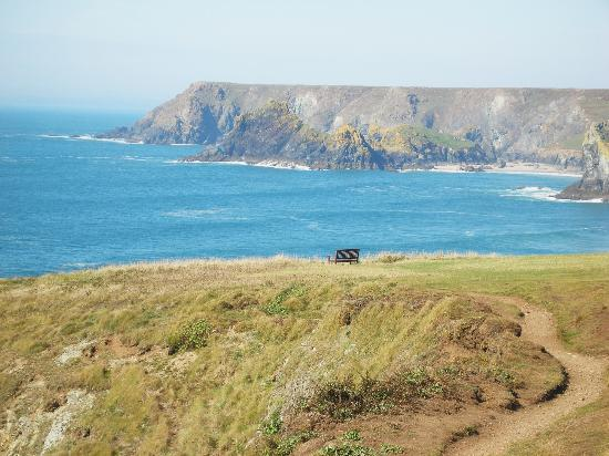 The Lizard and Kynance Cove: seat with a view