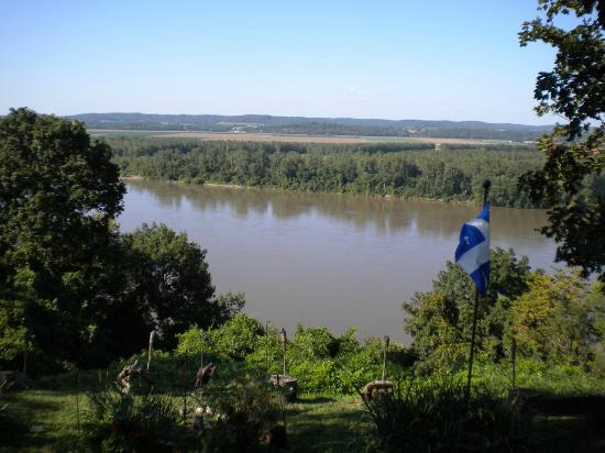 Fort Charrette Historic Village: View of the Missouri River
