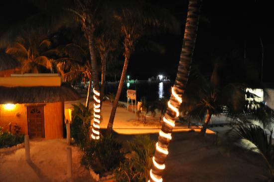 Seaside Cabanas: Rooftop night view of beach cabana #1
